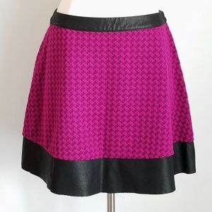 Candie's Vegan Leather & Fuchsia Quilted Skirt